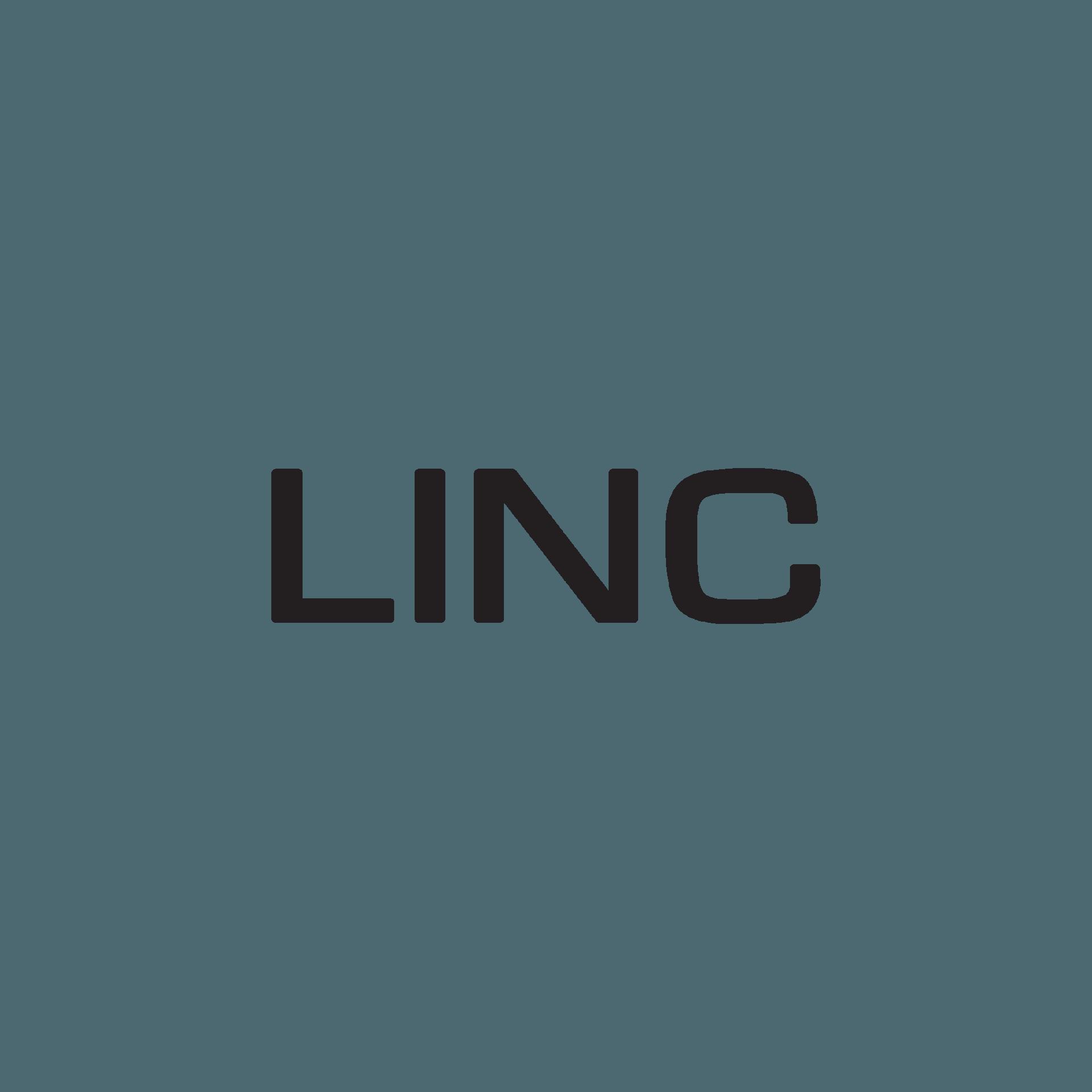 Logo for Linc Church, Word Linc in black